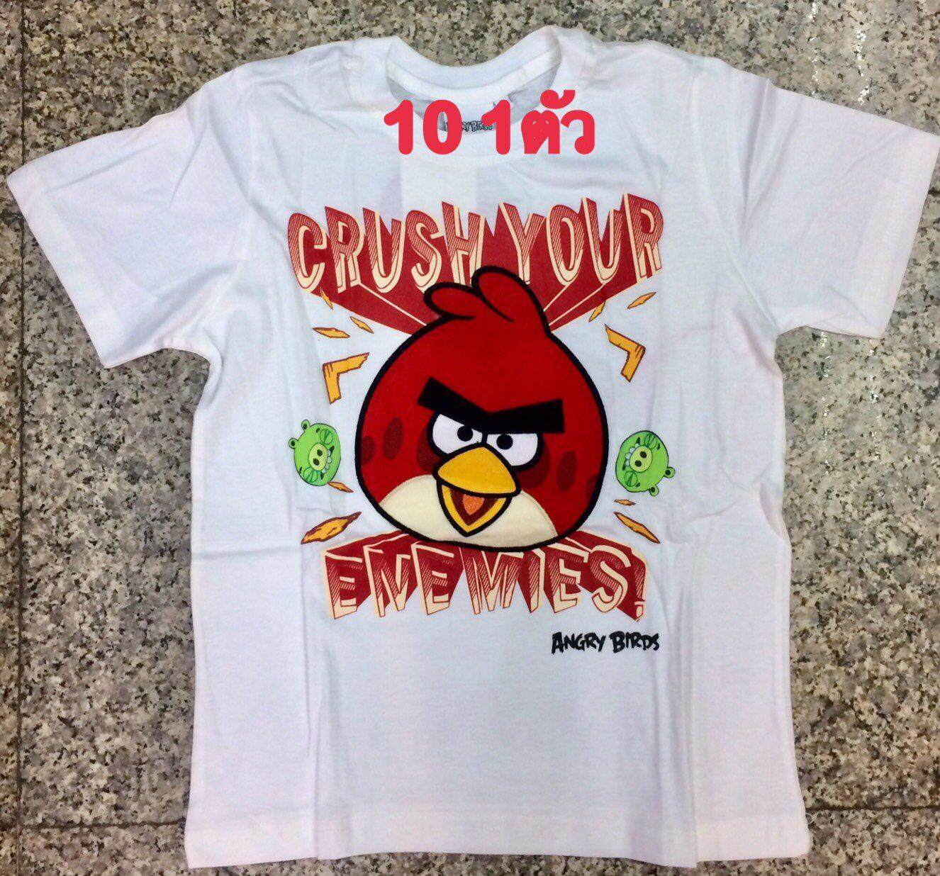Angry Birds cotton t-shirt size 10
