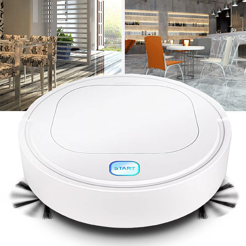 3 In 1 ES28 Robot Vacuum Cleaner 1800PA Dust Cleaning Sweeper Floor Cleaner Robot Vacuum USB Charge Dustpan Household Cleaning