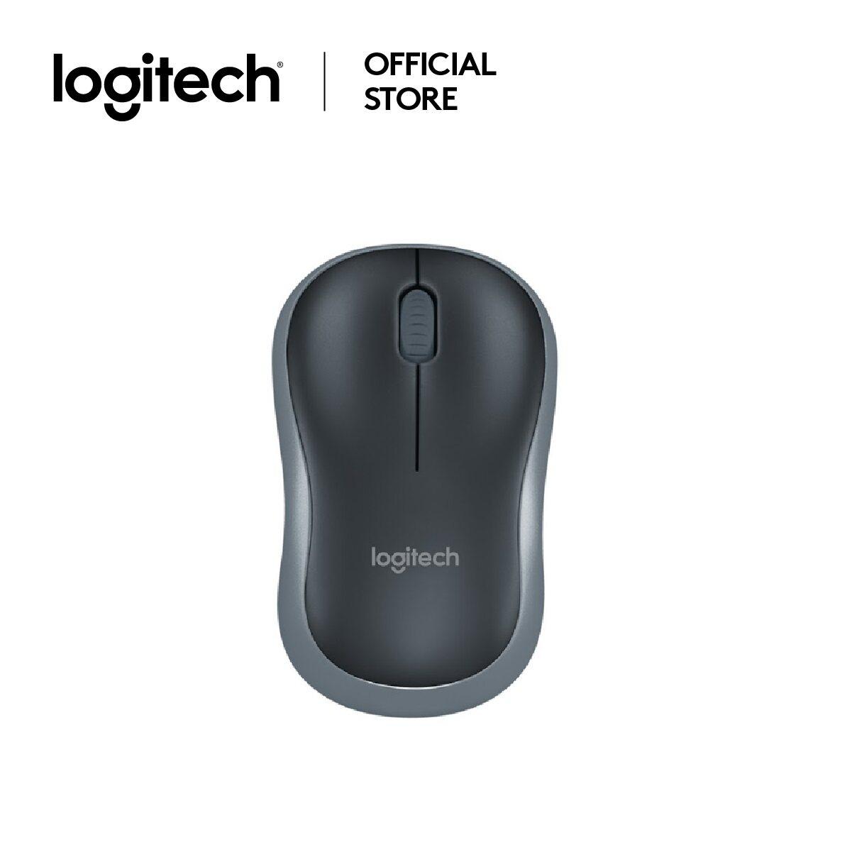 Logitech Mouse Wireless M185 เชื่อมต่อไร้สาย 2.4ghz, Dpi 1000, ระยะการเชื่อมต่อไร้สาย 10 เมตร, Port Usb (m185_cordless_ms) ( เมาส์).