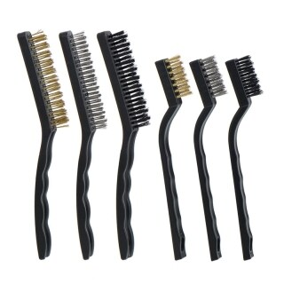Wire Brush Set for Cleaning Welding Slag, Rust and Dust, 6 Pieces, Stainless Steel, Brass and Nylon thumbnail