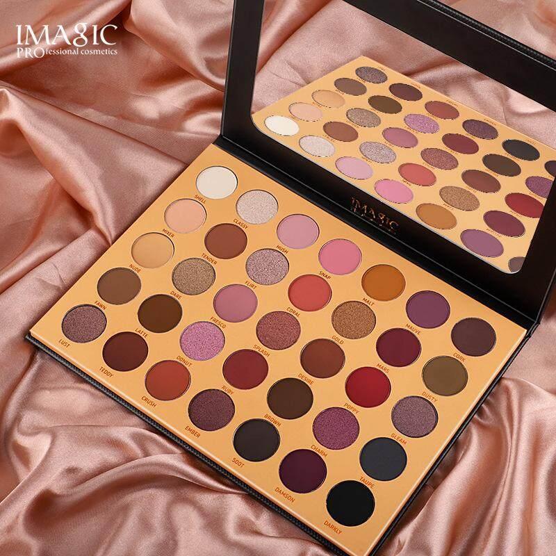 IMAGIC อายแชโดว์ อายแชโดว์พาเลทมี35สี หลากหลายสีในหนึ่งเดียว IMAGIC 35 Color Eye shadow tray Matte shimmer Multi-color Combination Eyes Makeup Eyeshadow