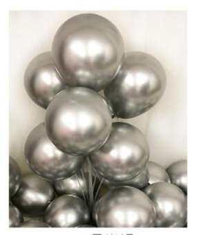 ลูกโป่งเมทัลลิค สีเมทัลลิค มุกเข้ม (Metallic Color) เมทัลลิก ขนาด 12นิ้ว จำนวน 10ใบ-