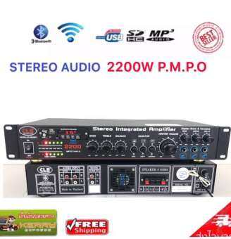 CLE CR-350(BT) อินทิเกรตแอมป์ แอมป์คาราโอเกะ รับFMได้ รองรับ USB, Micro SD CARD, BLUETOOTH STEREO AUDIO 2200W P.M.P.O