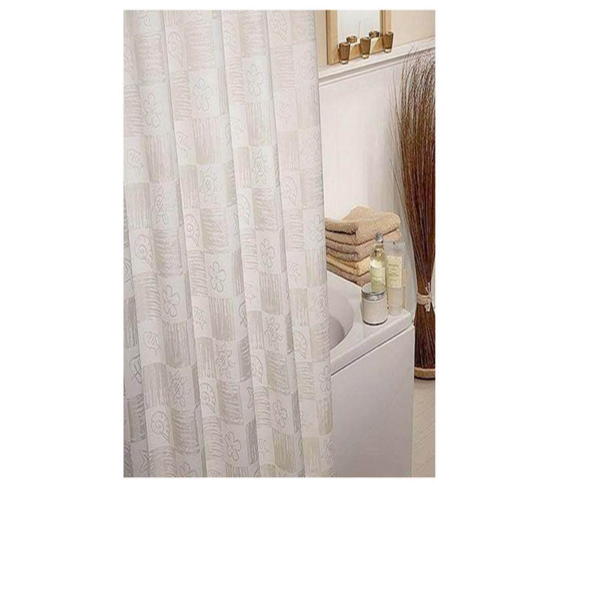 Shower Curtain ม่านห้องน้ำ Poly Moya Acs1366 180x180 By The Eight Shop.