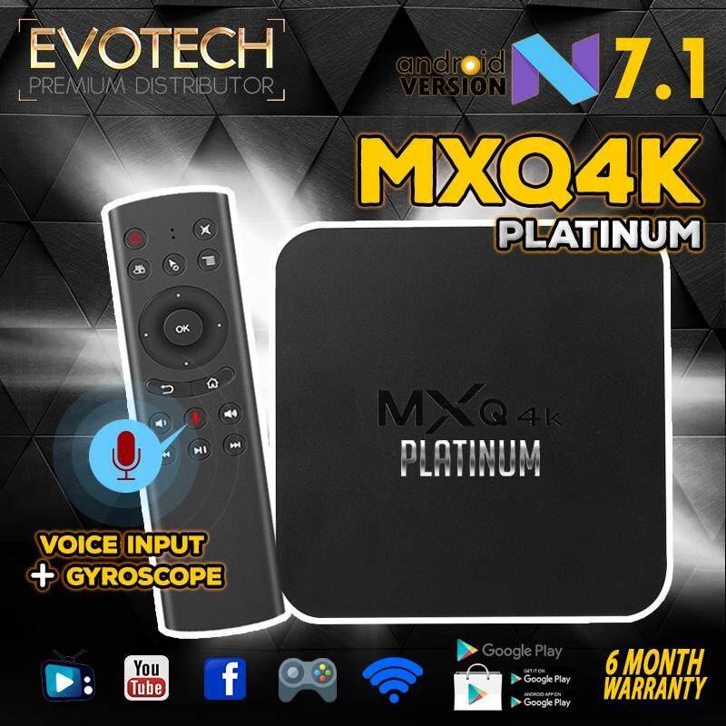 กล่องแอนดรอยด์ Mxq4k Platinum แอนดรอยด์ 7.1 เชื่อมต่อไวไฟ เข้าเว็บ ดูหนัง ดูฟรีทีวีออนไลน์ รองรับเล่นเกมผ่านแอพ ฟังเพลง ยูทูป และอื่นๆอีกมากมาย โหลดแอพฟรีที่ Play Store พร้อม Voice Remote Control สั่งค้นหาด้วยเสียงได้.