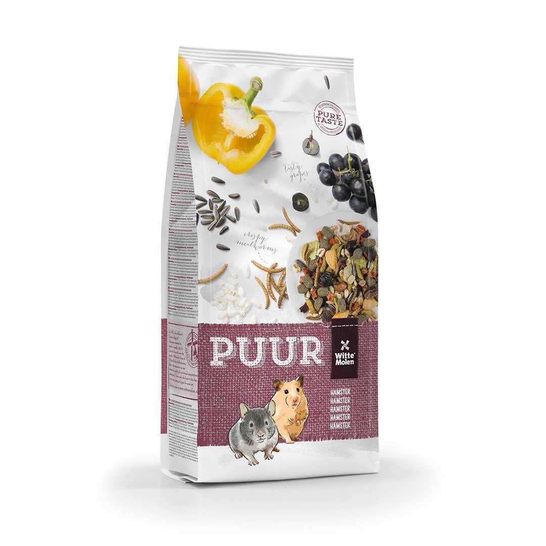 PUUR Hamster อาหารเพื่อสุขภาพ สำหรับหนูแฮมสเตอร์ เสริมโปรตีนจากหนอน และวิตามินจากผลไม้ (400g)
