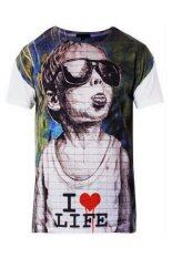 ขาย 5Th Avenue T Shirt I Love Life White 5Th Avenue เป็นต้นฉบับ