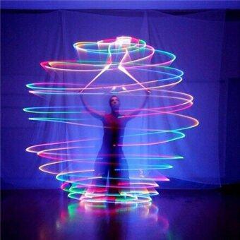 1 คู่ LED POI THROWN Balls สำหรับ Professional Belly Dance มือ Props