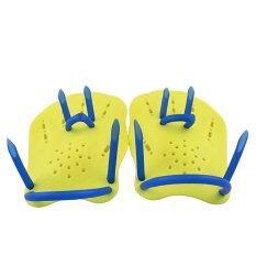 1 คู่ผู้ใหญ่ Unisex โต้คลื่นว่ายน้ำครีบกีฬา Paddle การฝึกอบรมถุงมือกบสีเหลือง.