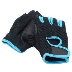 1 คู่ชายกีฬาฟิตเนสผู้หญิงห้องออกกำลังกายไดรฟ์น้ำหนักยกครึ่งถุงมือแบบเปิดครึ่งนิ้ว Anti - Static Training ถุงมือ.