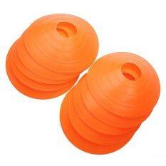 ขาย 10 Pcs Soccer Train Speed Disc Cone Football Cross Training Roadblocks Orange ถูก แองโกลา