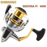 ส่วนลด สินค้า 100 Shimano Sedona Fi 4000 Deep Line Cup Spinning Fishing Reel 3 1Bb Hagane Gear Saltewater Fishing Reel Silver Gold 4000Series Intl