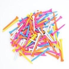 ส่วนลด 100 ชิ้นสีผสมพลาสติก 82 มิลลิเมตรไม้ Tees กอล์ฟ Vakind
