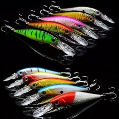 10pcs 10g 10cm Fishing Lure Artificial Hard Tackle Crankbait Minnow With 3d Eyes And Steel Ball - Intl.