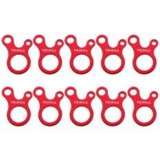 ส่วนลด 10 ชิ้น Quick Knot เต็นท์หัวเข็มขัดลม Antislip ตั้งแคมป์ขันตะขอ Unbranded Generic Thailand