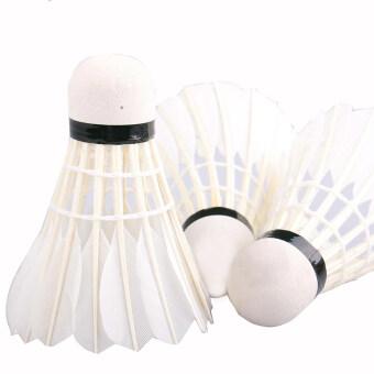 12 pcs Goose Feather Badminton Shuttlecocks Training Sports
