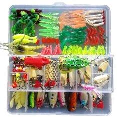 โปรโมชั่น 132 ชิ้น 1 เซ็ต Multifunction Fishing Lure ชุดผสม Universal Assorted Fishing Lure Accessories Set ตกปลารวมทั้งปลาตะขอ Hard เหยื่ออ่อนและอื่นๆน้ำจืดเหยื่อสำหรับตกปลา Tackle กล่อง Unbranded Generic