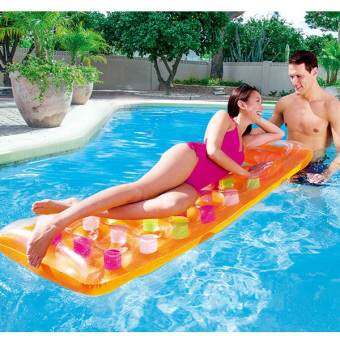 18 Holes Inflatable Floating Row Inflatable Bed 18 หลุมพองลอยแถว(Orange)