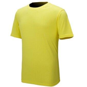 1 ชิ้นกลางแจ้งเดินป่าชายชุดกีฬาด่วนแห้งเสื้อยืดเย็นสีเหลือง/เอ็กแอล-นานาชาติ