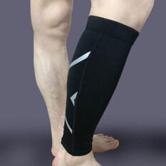 ราคา 1ชิ้นน่องขาบีบแขนเสื้อกีฬารองรับการศึกษากลางแจ้งใช้ถุงเท้าสีดำ M เป็นต้นฉบับ