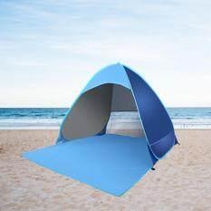 ราคา 2 3คนกันน้ำเต็นท์ชายหาด ตั้งแคมป์เดินป่า เต็นท์นอนกางอัตโนมัติ เป็นต้นฉบับ