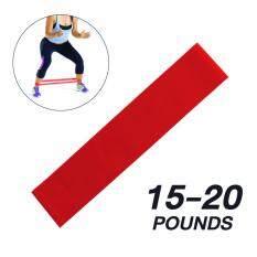 ขาย แผ่นยางยืดออกกำลังกาย สีแดง แรงต้านระดับ 2 ขนาดเล็กกว้าง 5 ซม เส้นรอบวง 50 ซม หนา 5 มม Exercise Band