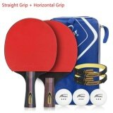 ขาย 2 Pieces Set Table Tennis Rackets Ping Pong Paddle Long Handle Double Face Table Tennis Racket Set With Balls Bag Intl ถูก จีน