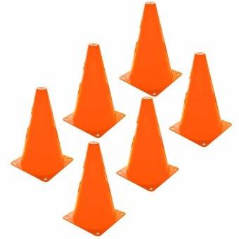 กรวย ซ้อมวิ่ง ความสูง 20 ซม. (8นิ้ว) ชุด 6 อัน - สีส้ม / Sport Training Cone