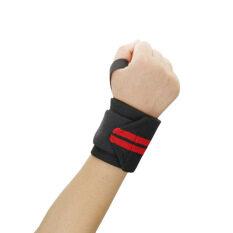 ราคา 2016 คุณภาพดีที่สุด 1ชิ้นน้ำหนักสายรัดข้อมือกีฬายกมือโอบรัดนิ้วรองรับห้องออกกำลังกายออกกำลังกายฝึกมือผ้ารัดปลอดภัย สีแดง ราคาถูกที่สุด