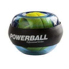 ราคา 2016 คุณภาพสูงลูกบอลพลังงานพลังงานไจโรสโคปวงแหวนข้อมือออกกำลังแขนไม่มีแรงลูกไฟผักตบไทย สีน้ำเงิน Unbranded Generic