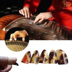 2017 5 ชิ้น/เซ็ต Guzheng Finger Picks ขนาดใหญ่ Tortoiseshell สี Instrument - Intl By Weiyue Store.