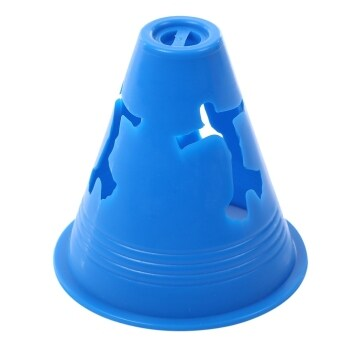 20pcs Human-figure Hole Anti-wind Fitness Equipment Drill Marker Cones Slalom for Football Skating (Blue) - intl