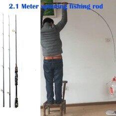 โปรโมชั่น 2 1 Meters 2 Tips Carbon Spinning Rod M Mh Fishing Rod Lure Fish Pole Intl Unbranded Generic ใหม่ล่าสุด