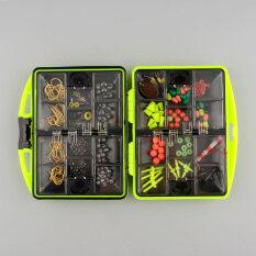 ขาย 24 Kinds Assorted Tackle Box Jig Swivels Clamp Hooks Fishing Accessories ออนไลน์