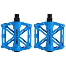 2 ชิ้น Super Light Stable Plat จักรยานอลูมิเนียมที่ถีบจักรยานเหยียบ (สีฟ้า) - Intl By Rubikcube.