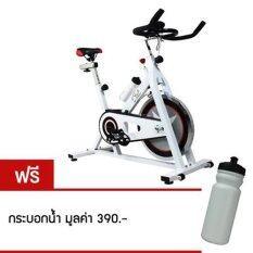 ขาย 360 Ongsa Fitness จักรยานปั่นออกกำลังกาย Spin Bike 15 Kg Am S1000 White ฟรี กระบอกน้ำ 360 Ongsa Fitness ใน กรุงเทพมหานคร