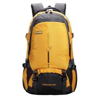 360DSC 45ลิตรเดินทางกระเป๋าสะพายไหล่กระเป๋าเป้สะพายหลังกีฬากลางแจ้งเดินป่ากระเป๋าเป้กันน้ำขึ้น-สีเหลือง-