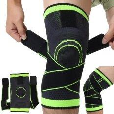 ทบทวน ที่สุด 3D ทอเข่าเข่าแขนระบายอากาศสนับสนุนการวิ่งจ๊อกกิ้งกีฬาสีเขียว
