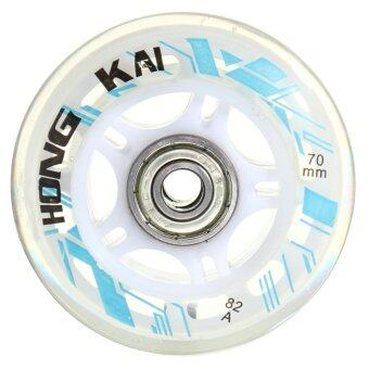 4 Pcs 70mm 82A Replacement Wheels Rollerblade Skating Inline Skate Shoes White - intl