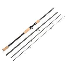ซื้อ 4 Sections Carbon Fiber Portable Baitcasting Spinning Fishing Rod Medium Rod Fishing Pole For Saltwater And Freshwater Intl Unbranded Generic ออนไลน์