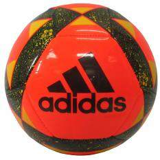 ส่วนลด ลูกฟุตบอลหนังเย็บ เบอร์ 5 Adidas Bq 8721 Starlancer V ส้มดำ Adidas