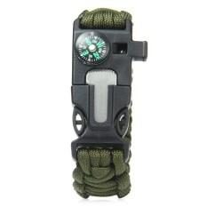 ซื้อ 5ใน1 หนีรอดกลางแจ้งชุด Paracord สร้อยข้อมือหิน นกหวีด เข็มทิศ มีดโกนกองทัพสีเขียว Unbranded Generic เป็นต้นฉบับ