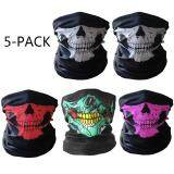 ขาย 5 Pack Skull Face Masks Motorcycle Riding Bandana Headwear Scarf Outdoor Dustproof �C Multifunctional Seamless Tublar Thin Unbranded Generic