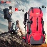 ขาย 50L Hiking Backpack กระเป๋าเป้สำหรับเดินป่า กระเป๋าและเป้สะพายหลัง With Rain ผ้าคลุมกระเป๋าสะพายหลัง ราคาถูกที่สุด