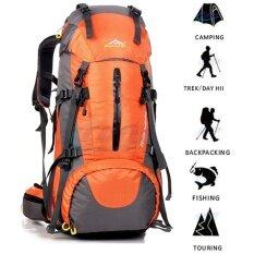 กระเป๋าเป้สำหรับเดินป่า 50l กระเป๋าและเป้สะพายหลัง With Rain ผ้าคลุมกระเป๋าสะพายหลัง.