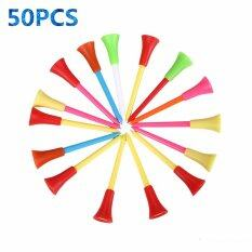 50pcs/bag Multi Color Plastic Golf Tees 83mm Durable Rubber Cushion Top Golf Tee - Intl By A-Liname.