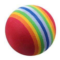 50ชิ้นจะช่วยฝึกฝนอบรมกอล์ฟในร่มโฟมฟองน้ำลูกบอลสีรุ้ง - Intl.