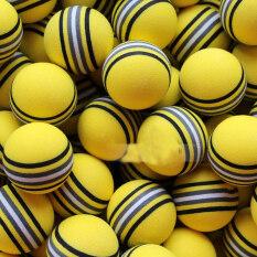 50 ชิ้นสีเหลืองลูกบอลฟองน้ำ Light ฝึกหัดในร่ม, กลางแจ้ง Practice Foam Lot By Miryo.