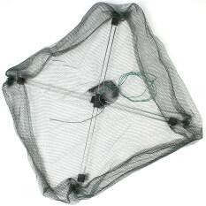 ขาย 55 เซนติเมตร X 55 เซนติเมตรพับตกปลาสุทธิพับ Hex ตาข่ายดักจับปูปลาซิว Crawdad กุ้งจุ่มสุทธิ None ถูก