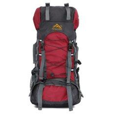 ราคา 60L Camping Travel Waterproof Sport Outdoor Backpack Red Intl เป็นต้นฉบับ Rbo
